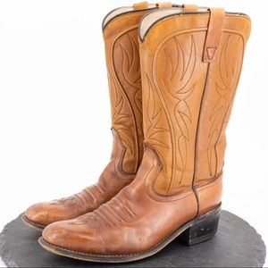 ACME men's leather cowboy boots size 9D